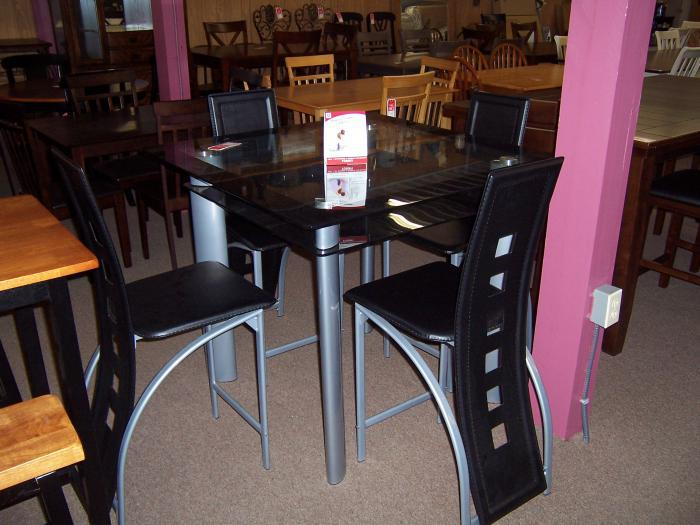 Glass Top 5 pc dinette,Ahner New Furniture