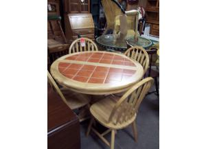 5 Pc tile top dinette set
