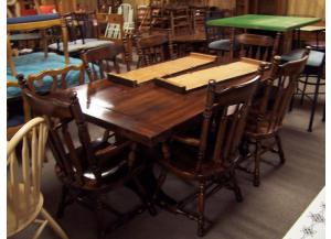 7 pc country pine dinette set