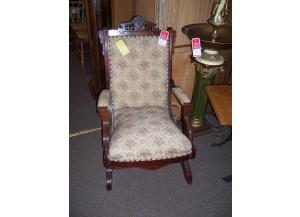 Cottage antique platform rocker