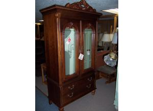 Stanley mirrored door armoire