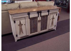 Amish Made Roller Door TV Stand