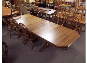 Amish made oak 7pc dinning set