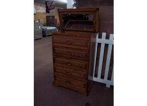 Lift top oak chest. Was $499