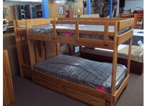 Step Bunk Beds with bedding