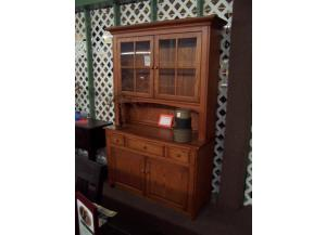 Amish Solid Oak Hutch Was $2499