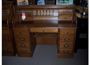Oak 54 inch Roll Top Desk,Ahner New Furniture