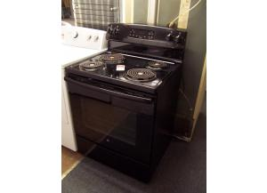Black electric stove