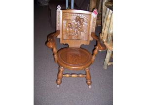 Carved Preowned Wooden Rocker