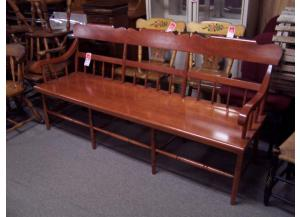 Cherry solid wood bench