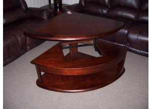 Lift top sectional wedge table w/matching ends