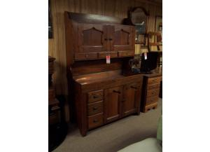 Large hutch style dry sink w/ copper incert