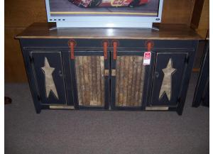 Amish made sliding door TV Stand