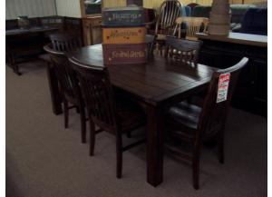 Rustic table with 6 chairs