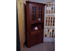 Amish made corner cherry hutch