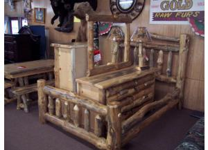 6 Pc Amish made Log Bedroom Group
