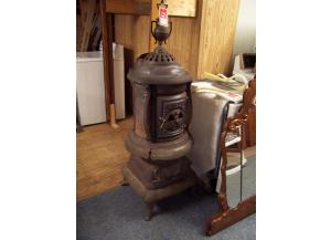 Large Antique Potbelly Stove