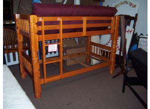 Large Post Bunk Beds W/Bedding