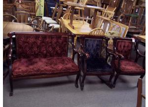 Antique 3 Pc settee set