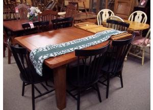 Large Dining Room Table W/6 Chairs