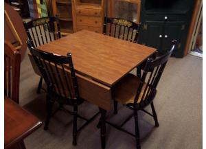 5 Pc Hitchcock style drop leaf dinette set