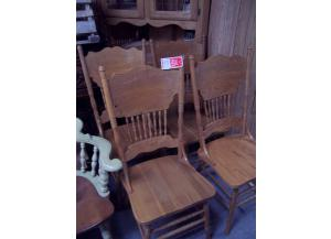 Set Of 4 Oak Chairs