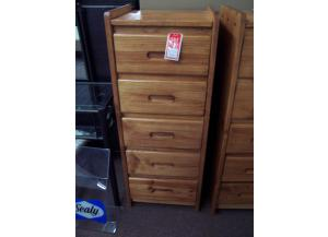 Solid Pine 5 Drawer Lig. Chest Was $259