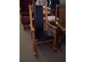 Solid oak rocker