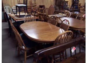 7 Pc solid oak dinette