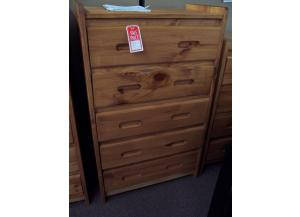 5 drawer solid pine chest. $298