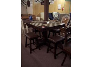 5 Pc Rustic oak pub set.