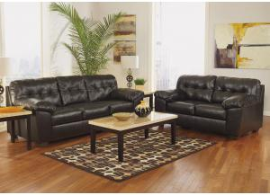 Alliston Chocolate 7 Pc. Living Room Set