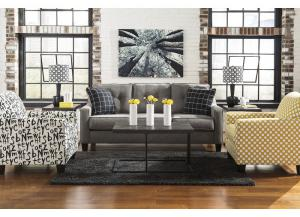 Bridon Charcoal 7 Pc. Living Room Set