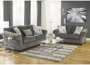 Makonnen Charcoal 7 Pc. Living Room Set