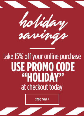 Holiday Savings 15% OFF