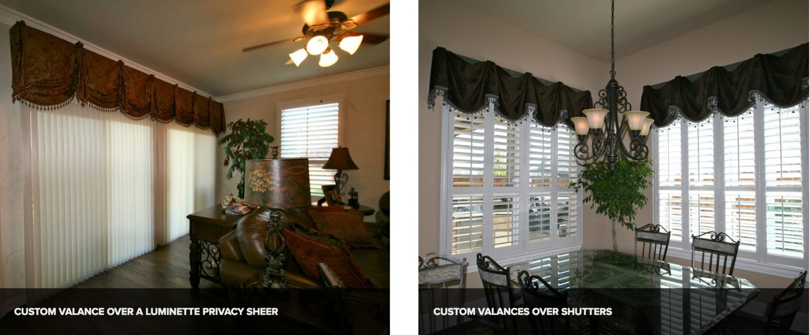 Custom Valances in Dallas/Fort Worth, TX