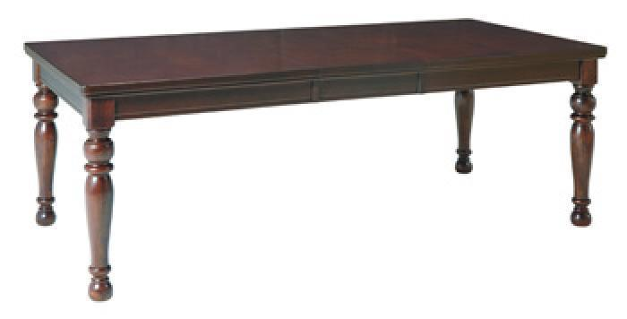Porter Rectangle Table W/ 18 leaf Table Only,Ashley