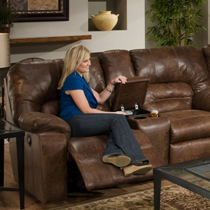 Dakota Reclining Love Seat with console,FRANKLIN