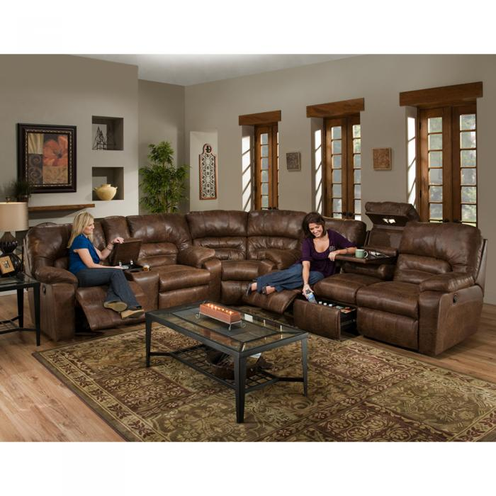Dakota Sectional Drop Down Table, Massage, Frosty Fridge, console,FRANKLIN