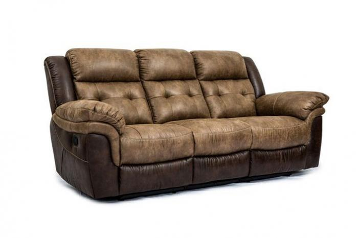 Cheers Two Tone Reclining Sofa,Cheers