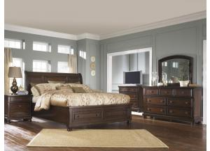 Porter King Bed, Dresser, Mirror, Night Stand