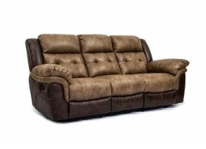 Cheers Two Tone Reclining Sofa