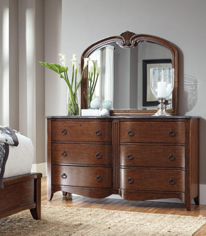 Dresser and Mirror w/ Gray Marble,Ashley