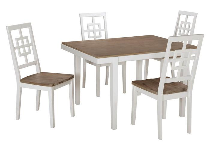 Two Toned Dinette White/Natural,Ashley