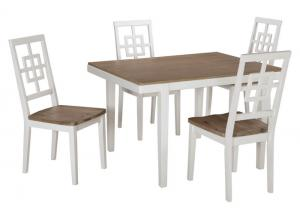 Two Toned Dinette White/Natural