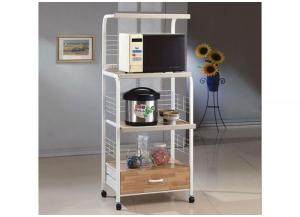 Microwave Cart with Electrical Strip