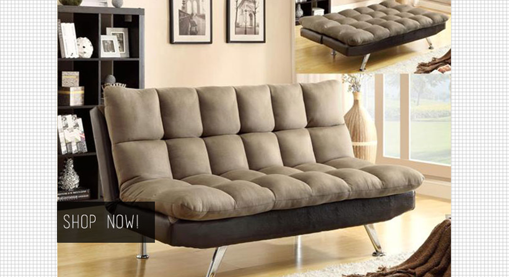 Sundown Espresso/Pebble Adjustable Sofa