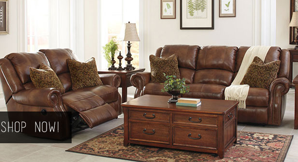 Walworth Auburn Reclining Power Sofa & Loveseat