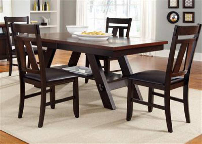 116 Lawson Dining Table w/4 chairs,Liberty Furniture Industries