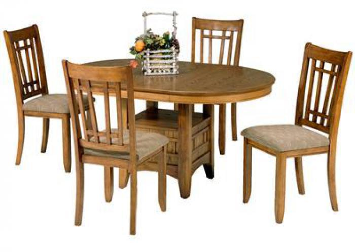 25 Santa Rosa Pedestal Table w/4 chairs,Liberty Furniture Industries